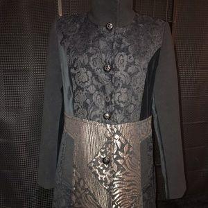 Vintage Laura Petite... Tapestry/ Velvet Coat